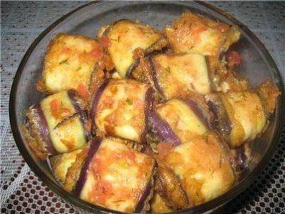 Рулеты из баклажанов рецепты с фото