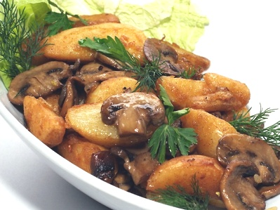 Шампиньоны в мультиварке с картошкой рецепт фото