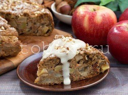 Заливной пирог с яблоками рецепты с фото